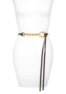 Bottega Veneta Twisted Buckle Leather Belt