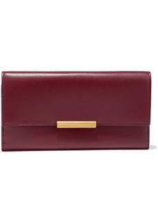 Bottega Veneta Woman Embellished Leather Continental Wallet Claret