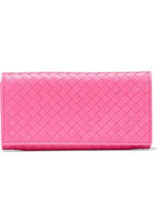 Bottega Veneta Woman Intrecciato Leather Continental Wallet Bubblegum