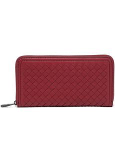Bottega Veneta Woman Intrecciato Leather Continental Wallet Claret