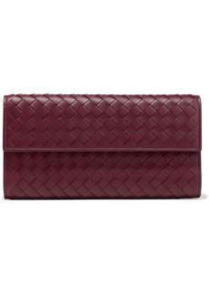 Bottega Veneta Woman Intrecciato Leather Wallet Claret