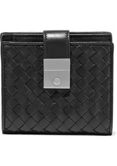 Bottega Veneta Woman Intrecciato Leather Wallet Black