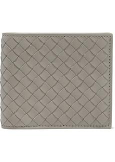 Bottega Veneta Woman Intrecciato Leather Wallet Gray