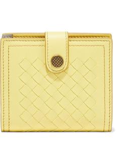 Bottega Veneta Woman Intrecciato Leather Wallet Yellow