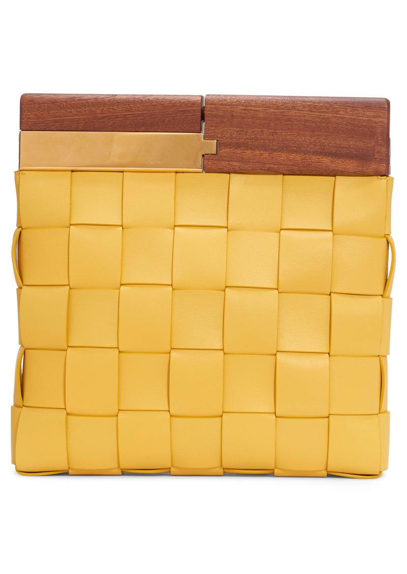 Bottega Veneta Wood & Intrecciato Leather Clutch