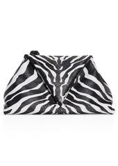 Bottega Veneta Zebra Print Leather Envelope Clutch