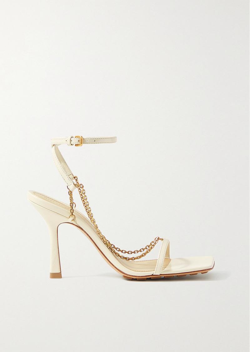 Bottega Veneta Chain-embellished Leather Sandals