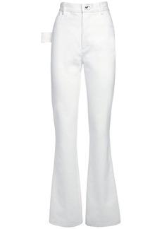 Bottega Veneta Cotton Denim Pants W/ Metal Buckles