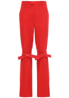 Bottega Veneta Cotton Gabardine Pants W/ Knee Straps