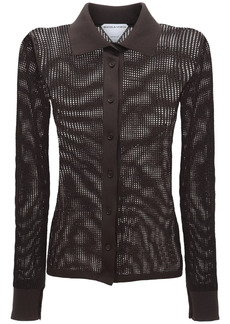 Bottega Veneta Cotton Mesh Shirt