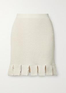 Bottega Veneta Crocheted Cotton-blend Mini Skirt