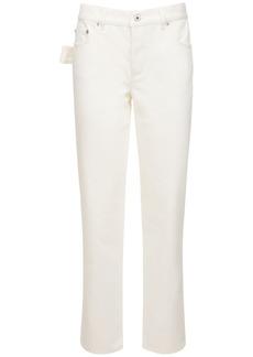 Bottega Veneta Cropped Cotton Denim Pants