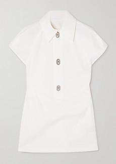 Bottega Veneta Cutout Cotton-poplin Top