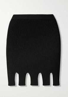 Bottega Veneta Cutout Ribbed-knit Mini Skirt