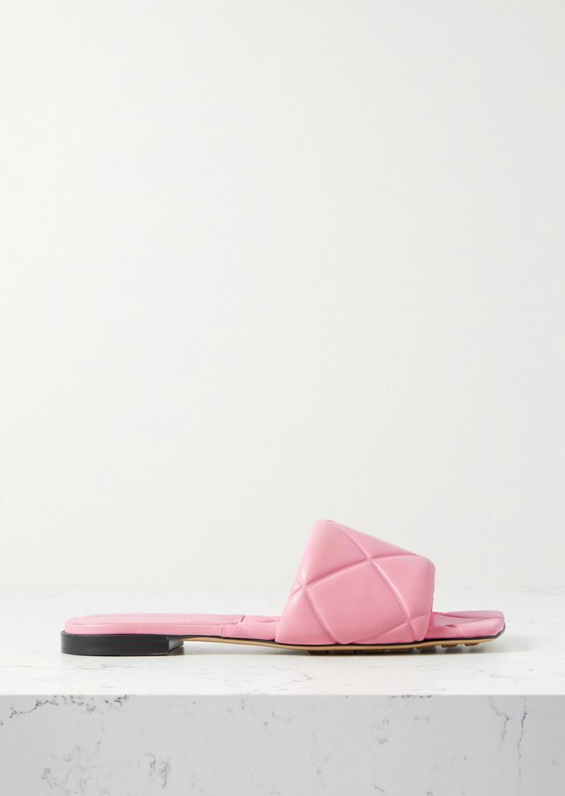 Bottega Veneta Debossed-leather Slides