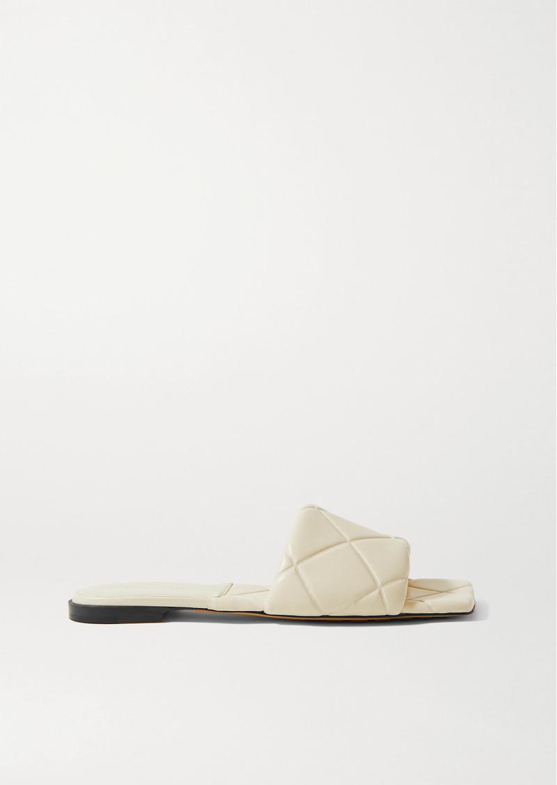 Bottega Veneta Debossed Leather Slides