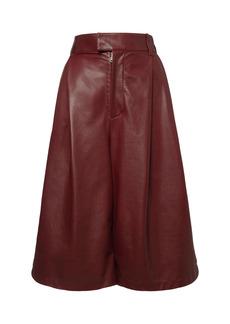 Bottega Veneta High Waist Leather Bermuda Shorts