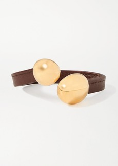 Bottega Veneta Leather And Gold-tone Cuff