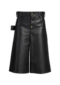 Bottega Veneta Leather Satine Shorts
