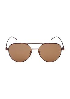 Bottega Veneta Minimalist 59MM Pilot Sunglasses
