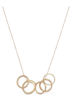 Bottega Veneta Multi Ring Charm Long Chain Necklace
