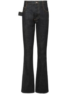 Bottega Veneta Raw Denim Flared Jeans