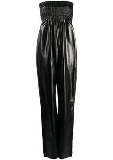 Bottega Veneta ruched body wide-leg jumpsuit