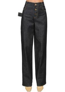 Bottega Veneta Straight Cotton Denim Jeans