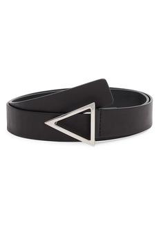 Bottega Veneta Triangle-Buckle Leather Belt