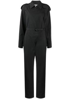 Bottega Veneta wide lapel belted jumpsuit