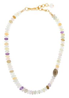 Brinker & Eliza beaded gemstone necklace