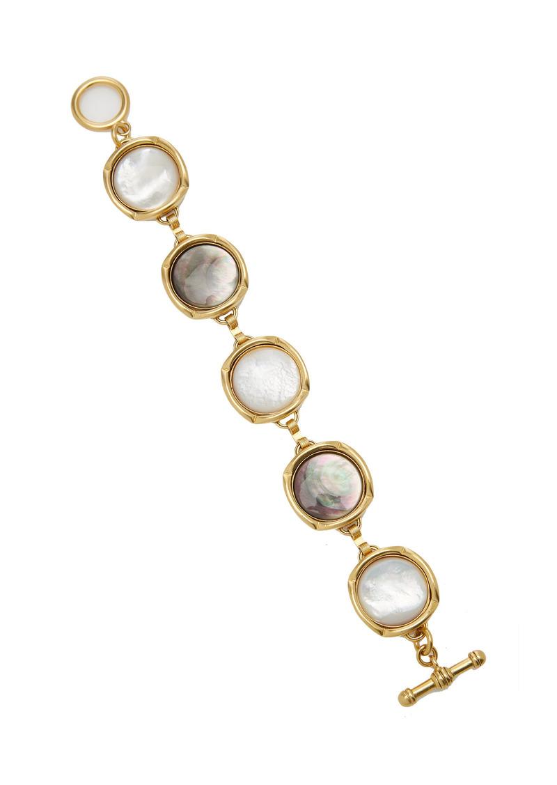 Brinker & Eliza - Women's Bright Side Mother-Of-Pearl 24K Gold-Plated Bracelet - Gold - Moda Operandi