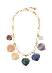 Brinker & Eliza Carpe Diem Multi-Stone Heart Necklace