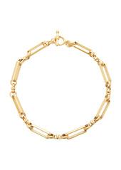 Brinker & Eliza Checkmate 24K Gold-Plated Brass Link Necklace