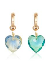 Brinker & Eliza Glass Crystal Sangria Hoops