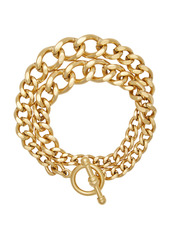 Brinker & Eliza Heavy Metal 24K Gold-Plated Chain Wrap Bracelet