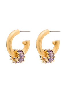 Brinker & Eliza crystal-embellished small hoop earrings