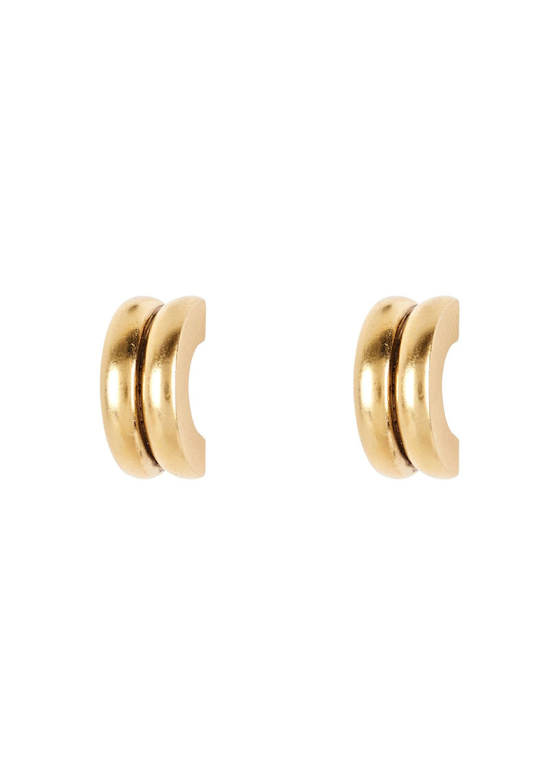Brinker & Eliza Double Tube Mini Earrings
