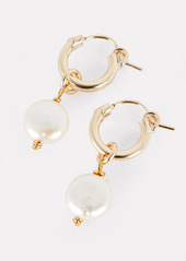 Brinker & Eliza Enchanted Pearl Drop Huggie Earrings