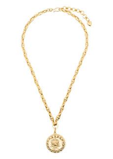 Brinker & Eliza engraved medallion necklace