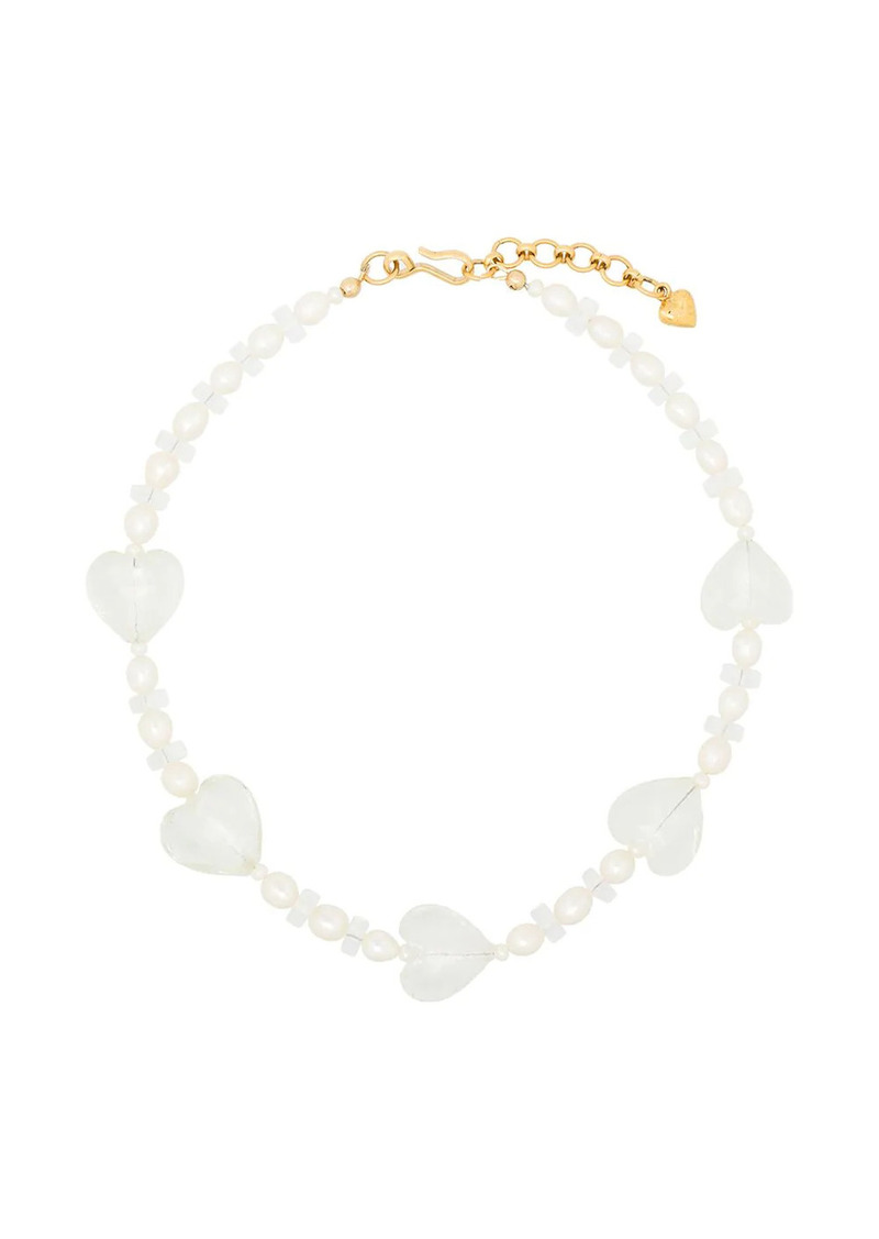 Brinker & Eliza Forever Young pearl heart necklace