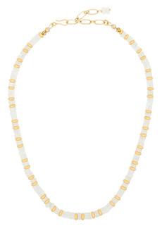 Brinker & Eliza two-tone gemstone necklace