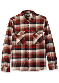 Brixton Men's Hayes Relaxed Fit Long Sleeve Flannel Shirt  S