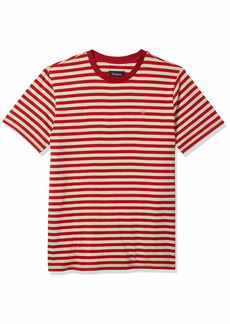 Brixton Men's HILT Tailored FIT Mini Stripe Short Sleeve Knit Shirt  M