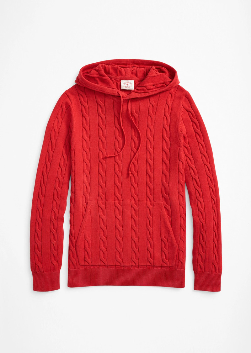 Brooks Brothers Cable-Knit Hoodie