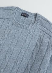 Brooks Brothers Cable-Knit Wool Sweater