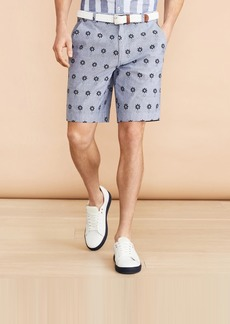 Brooks Brothers Chambray Flower Print Shorts