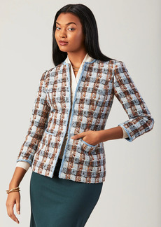Brooks Brothers Checked Shimmer Boucle Jacket