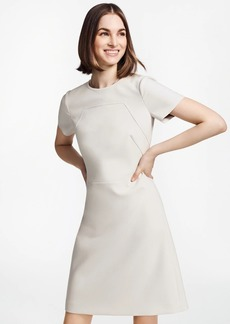 Brooks Brothers Double-Weave A-Line Shift Dress