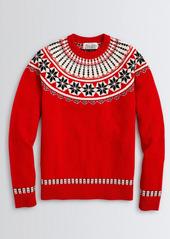Brooks Brothers Fair Isle Merino Wool Crewneck Sweater